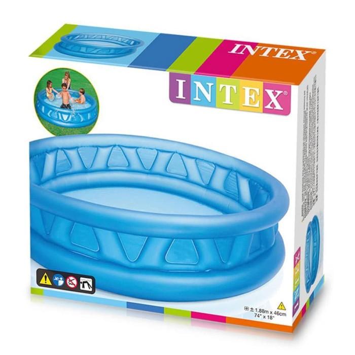 Kolam jumbo crystal blue 58431 kolam renang anak intex besar