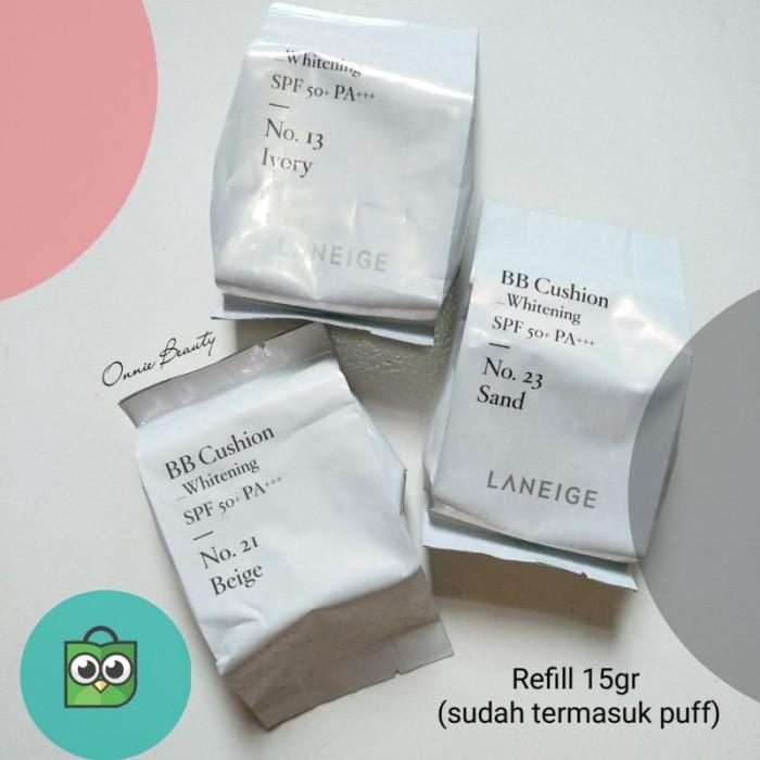 LANEIGE BB Cushion Whitening SPF50  PA    Case   isi 15gr / Refill