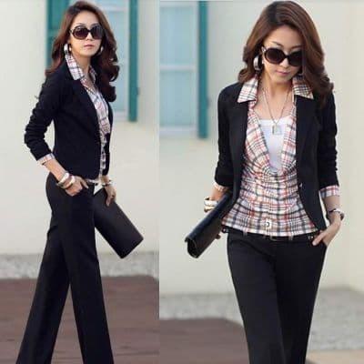 Spring Women's Slim Short Blazer Suit Jacket Coat Outwear Black