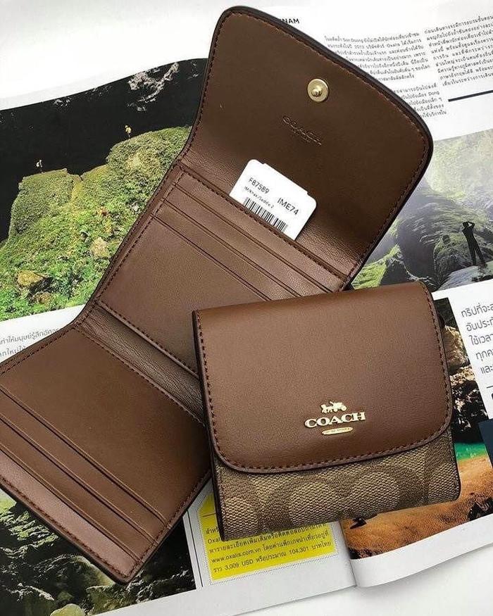 online retailer 6346f 34293 Jual Coach F87589 Signature PVC Small Wallet (saddle) size 10x10cm - Kota  Medan - Juwita Corner | Tokopedia