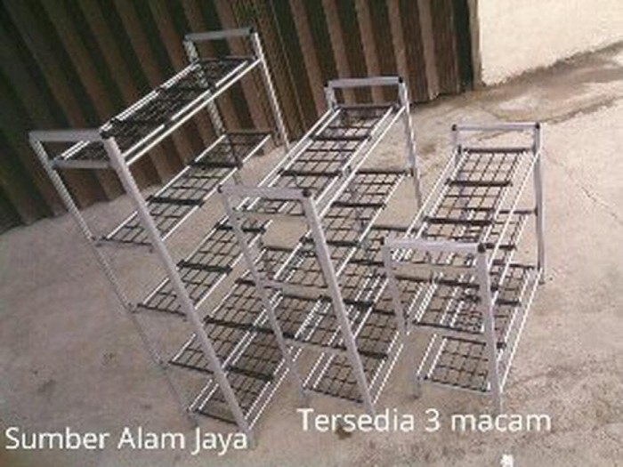 Rak Sepatu Aluminium 3 Susun Limited