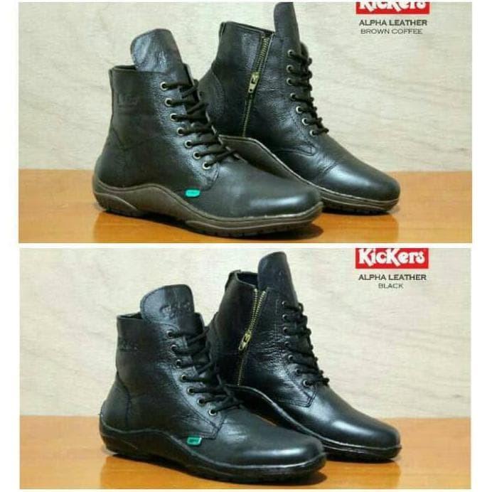 Sepatu Boots Casual Pria Kulit Premium Kickers Grade Original - Info ... 9b9da6f487