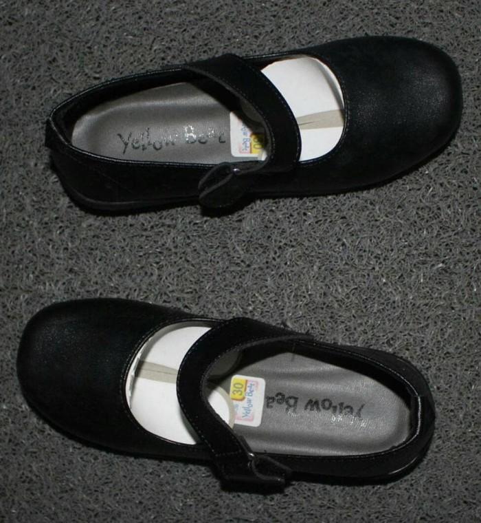 Sepatu Flat Anak Warna Hitam Polos Sepatu Sekolah anak Perempuan Murah