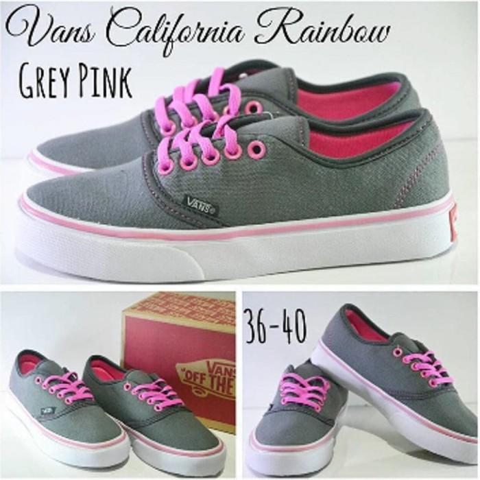 7f63f39a44 Jual Sepatu vans california Women Grey Pink Sepatu Kets Cewek Abu ...
