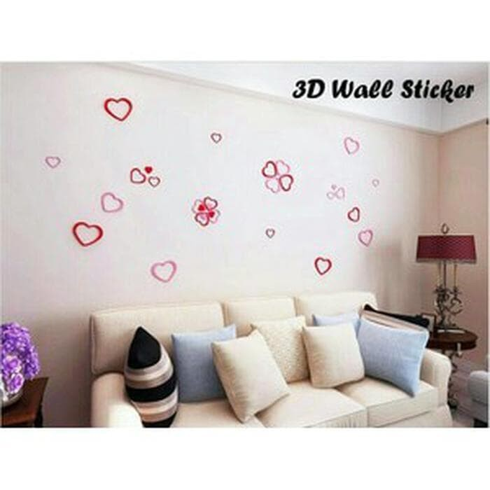 jual wall sticker 3d love murah - kisameshop98 | tokopedia