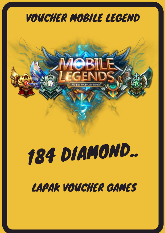 Voucher Mobile Legend 184 Diamond Murah