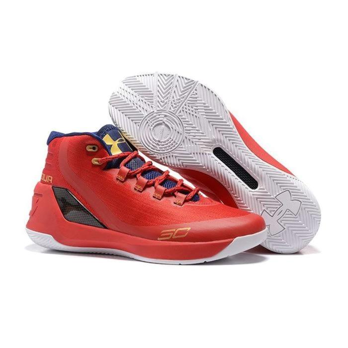 Jual Sepatu Basket Under Armour 3 Premium Original - Merah cd2d8ad660