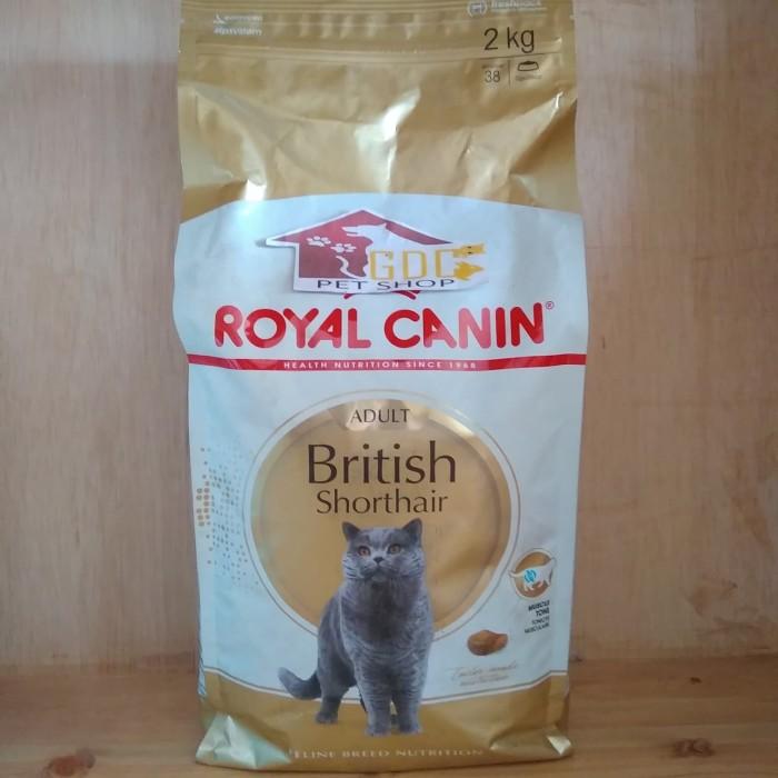 Jual Royal Canin British Shorthair Cat Adult 2 Kg Makanan Kucing British Kota Depok Petshop Gdc Tokopedia