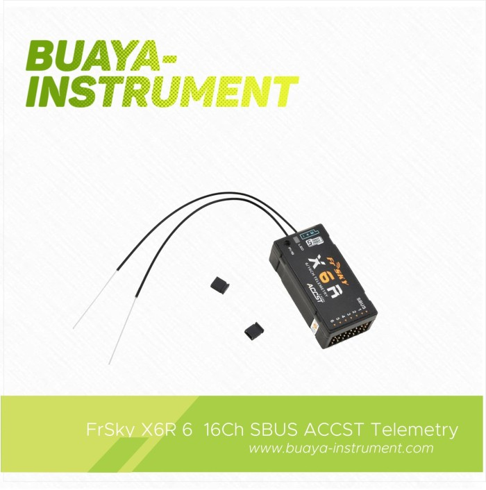 Jual FrSky X6R 6/16Ch SBUS ACCST Telemetry Receiver with Smart Port - Buaya  Instrument | Tokopedia