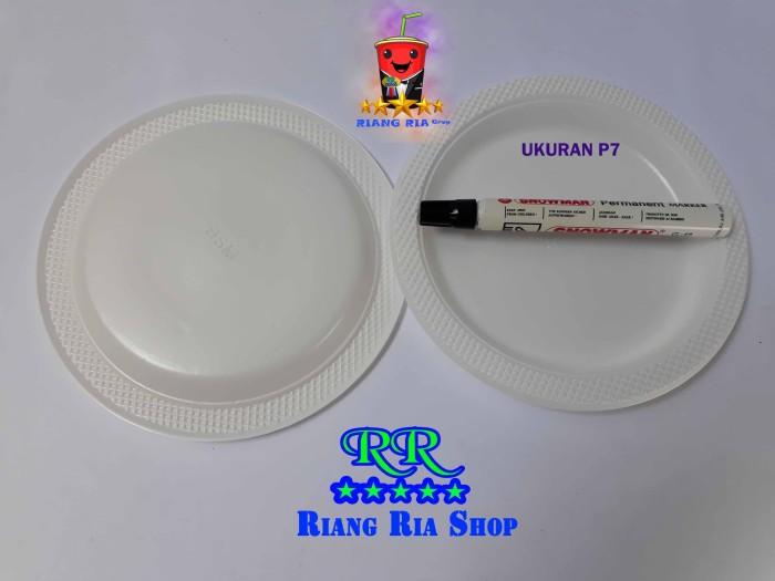 Piring Plastik Putih Susu Sedang / Medium P7 Mika Merek Bsm - Blanja.com