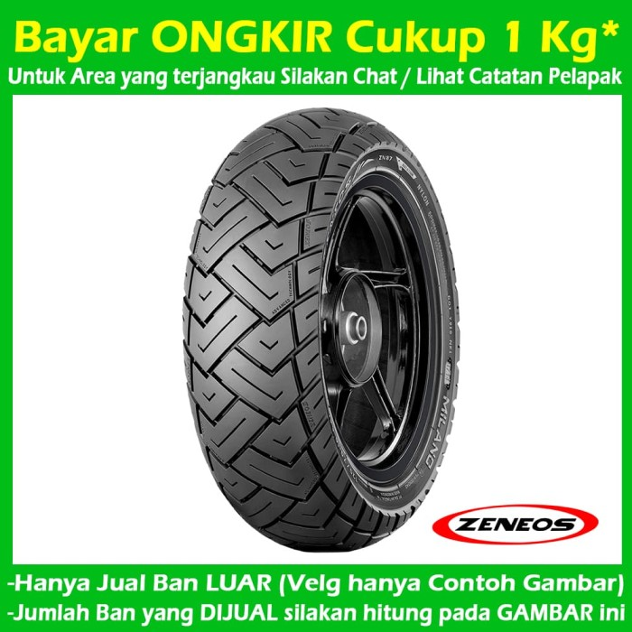 harga Zeneos milano zn 87 110/70-12 tubeless ban matic vespa / scoopy new Tokopedia.com