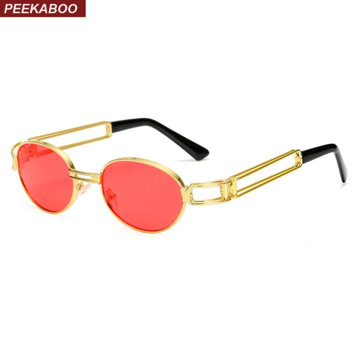 c756e7fde646 Kacamata Bulat Terbaru Peekaboo 2017 retro vintage sunglasses men smal