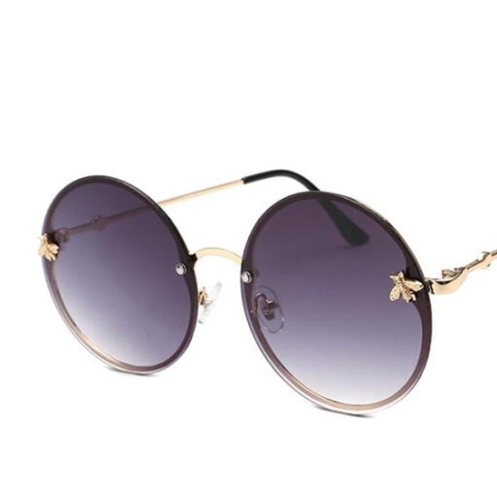 ee9e2d894a35 Kacamata Bulat Terbaru Red Glasses Round Sunglasses Vintage Brand Desi