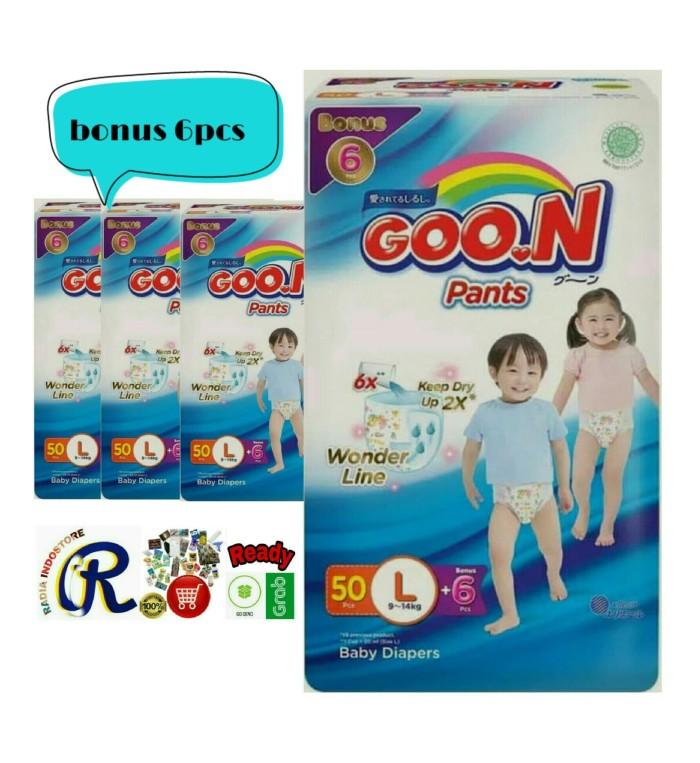 harga Goon l50 popok premium pants plus l 50 + 6 excellent soft 56pcs Tokopedia.com