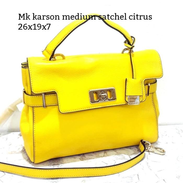 a72e8a2eaad5 Jual Michael kors karson medium satchel citrus tas asli original bag ...