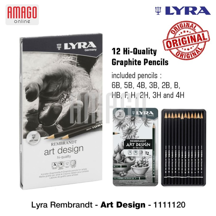 harga Lyra - rembrandt art design - 12 pcs - tin box - 1111120 Tokopedia.com