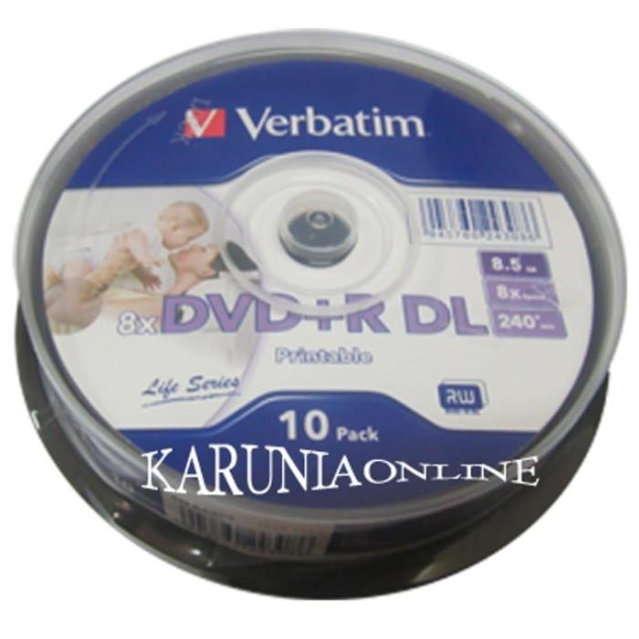 photo relating to Verbatim Printable Dvd R named Jual DVD+R DOUBLE LAYER VERBATIM PRINTABLE (SPINDEL 10) cpu murah - Jakarta Timur - toko rant Tokopedia