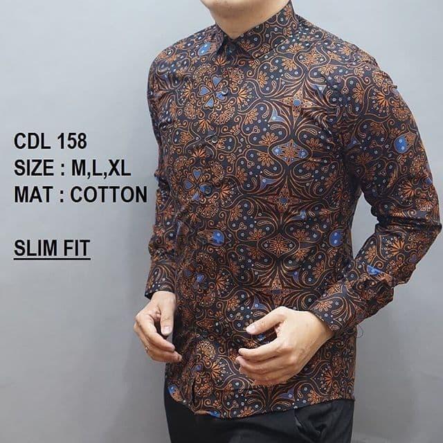 harga Kemeja batik pria slim fit / baju batik pria slim fit cdl158 Tokopedia.com