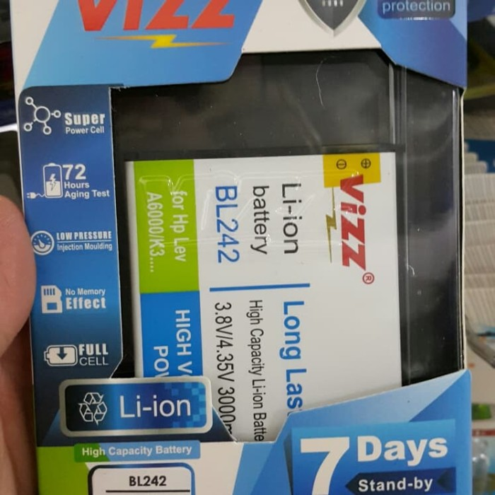harga Baterai vizz lenovo a6000 k3 k5 plus a6020 a6000 plus double power ori Tokopedia.