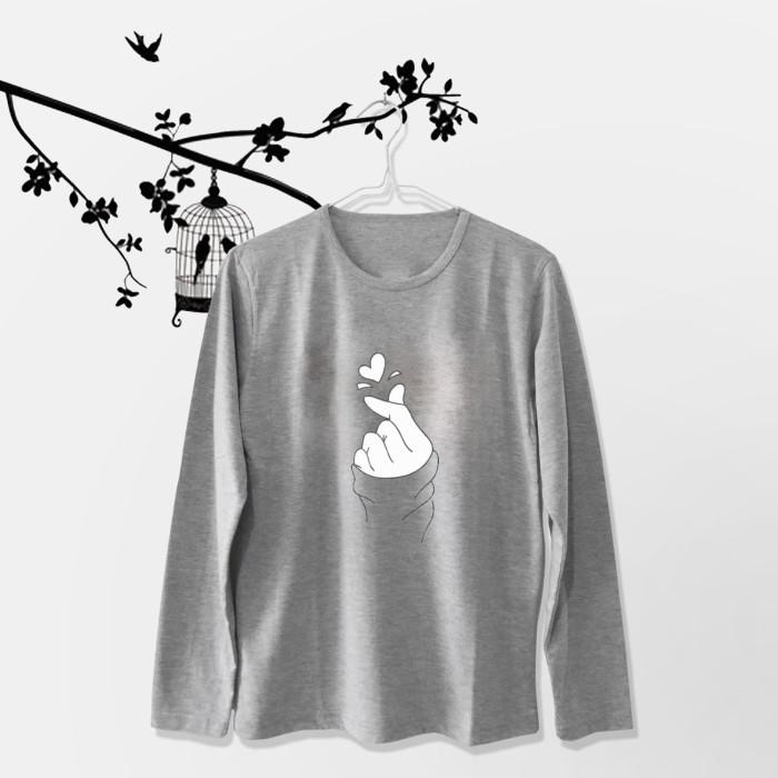 Foto Produk Tumblr Tee / T-Shirt / Kaos Wanita Lengan Panjang Sarang Warna Abu dari Ellipses.inc