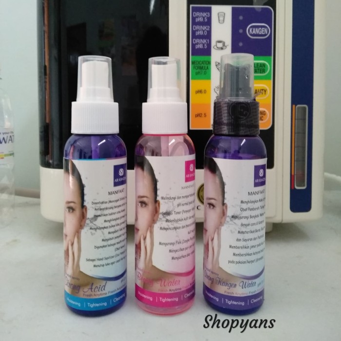 Paket Beauty Water/ Strong acid/ Strong Kangen water 120ml