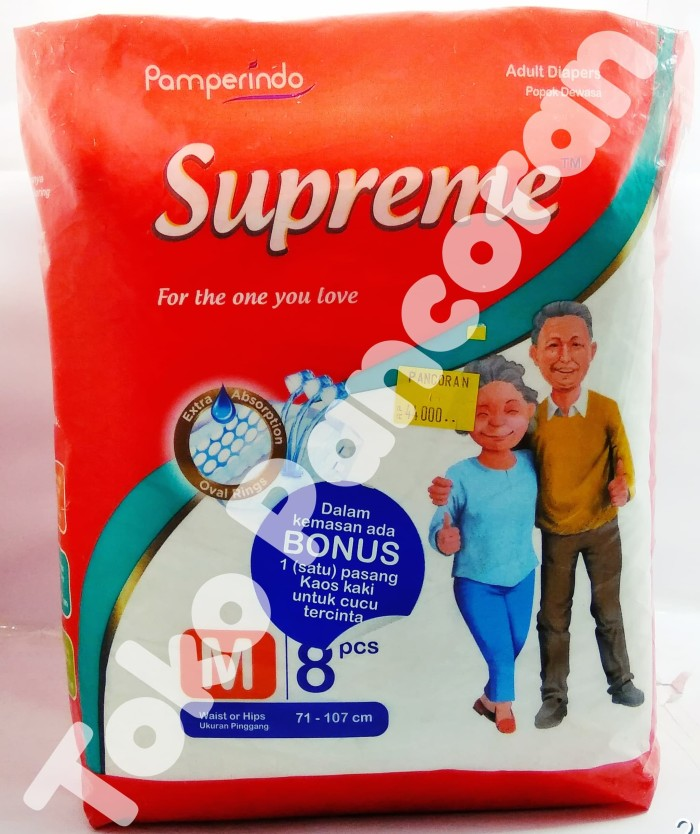 Foto Produk SUPREME Adult Diapers Popok Perkat Dewasa ( Size M ) 8 Buah dari anekakado