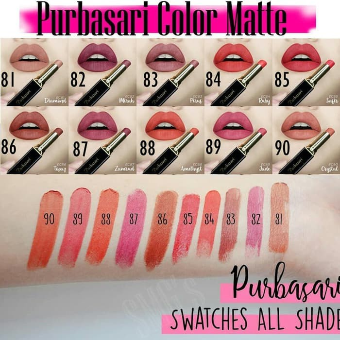 PURBASARI Colour Matte Lipstick Etalase 81-95