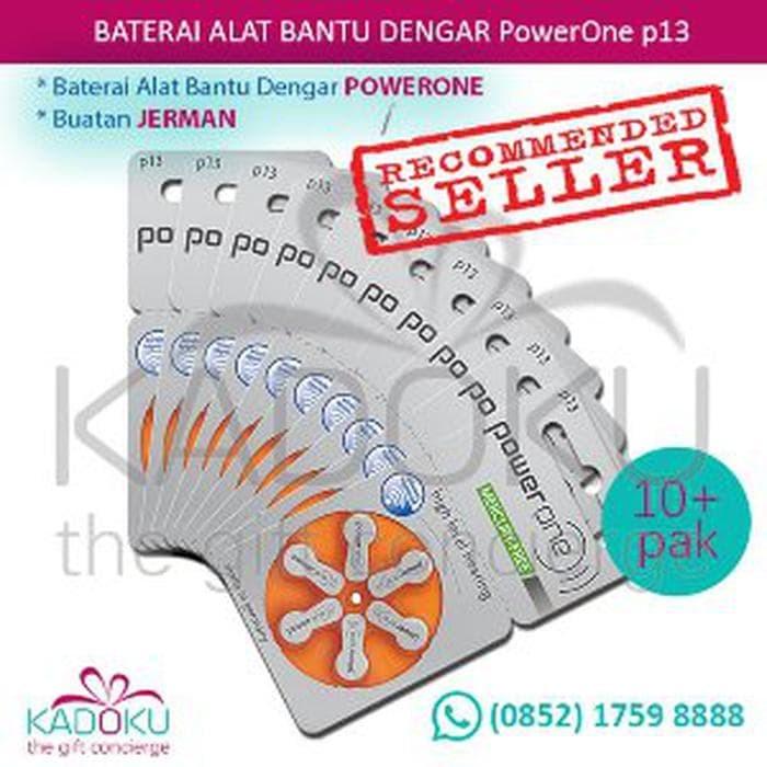 SPECIAL EDITION Baterai Alat Bantu Dengar Powerone 13 1 Box isi 10 R