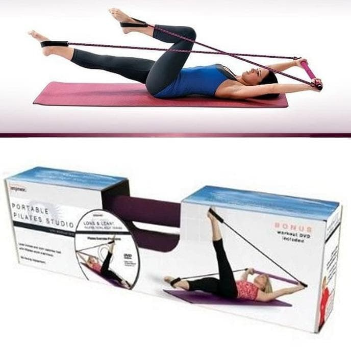 Pilates Portable Studio / Tali Olahraga Senam Gym / Alat Fitness
