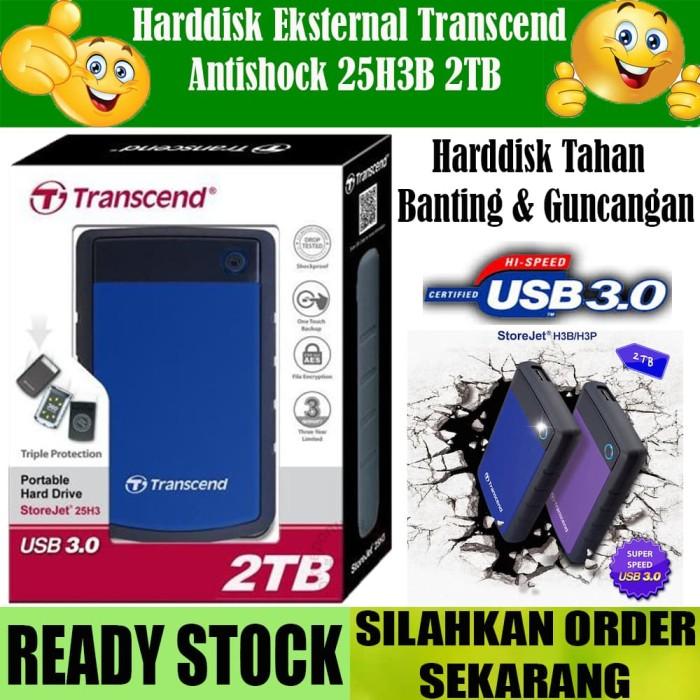 harga Transcend hard drive external antishock storejet 25h3b - 2tb biru Tokopedia.com