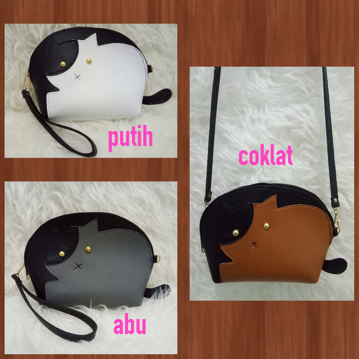 Foto Produk =FATTY CAT= TAS SLEMPANG SLING BAG POUCH TAS BENTUK KUCING LUCU UNIK dari Marie Shop