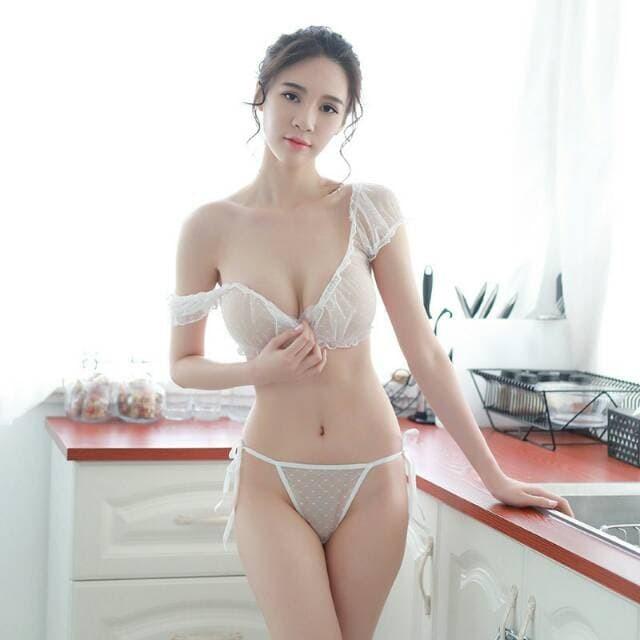 Jual Baju Tidur Seksi Cewek Wanita Sexy Lingerie  Warna Hitam Putih Miyabi Putih Franzpetteson Tokopedia