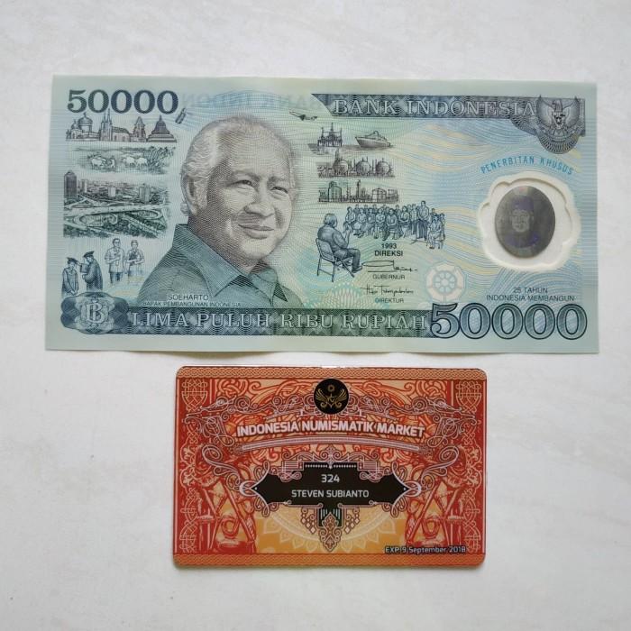harga Uang kuno 50000 rupiah presiden soeharto 1993 polymer special edition Tokopedia.com