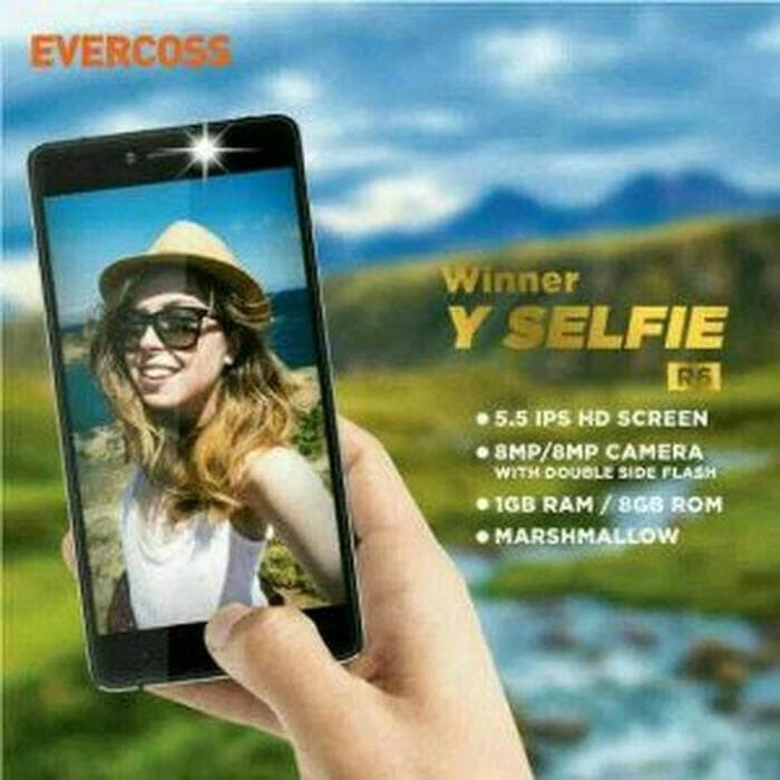 Case Evercoss R6 Winner Y Selfie Softcase Leather Plus Ring Ev