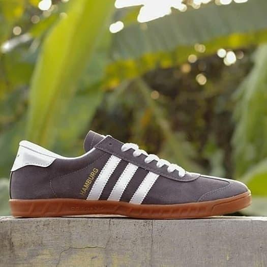 Jual Sepatu Adidas Hamburg Abu Putih Sepatu Pria Sepatu