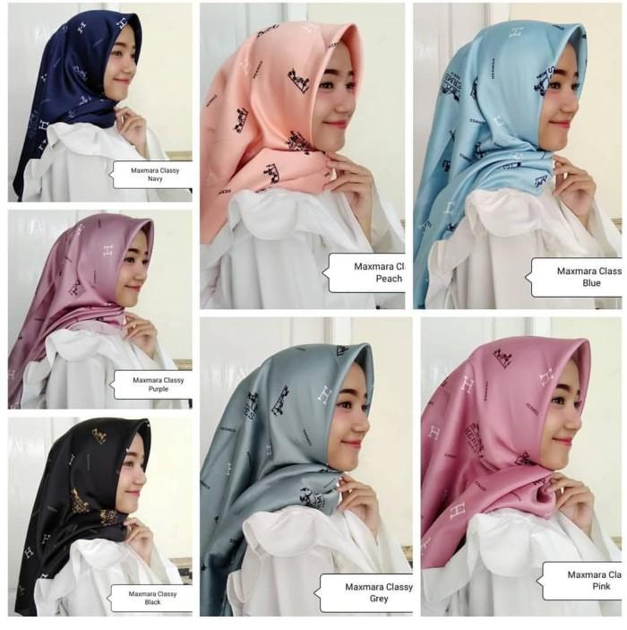 5f3d39a3a06 Jual Neww!! Hijab Jilbab Segiempat Maxmara Square Motif Gucci ...