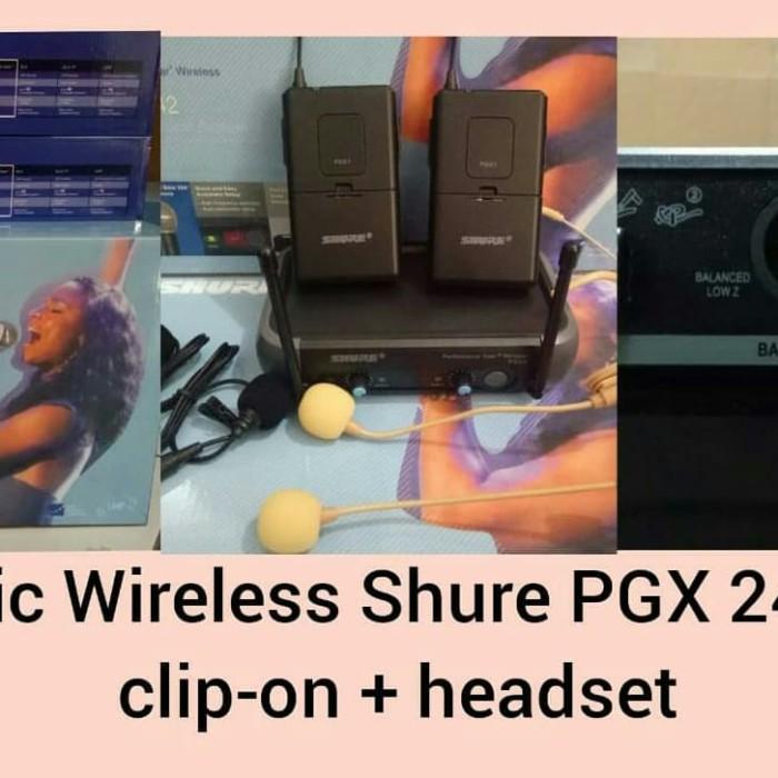 harga Microphone wireless shure pgx242 heatset -heatset Tokopedia.com