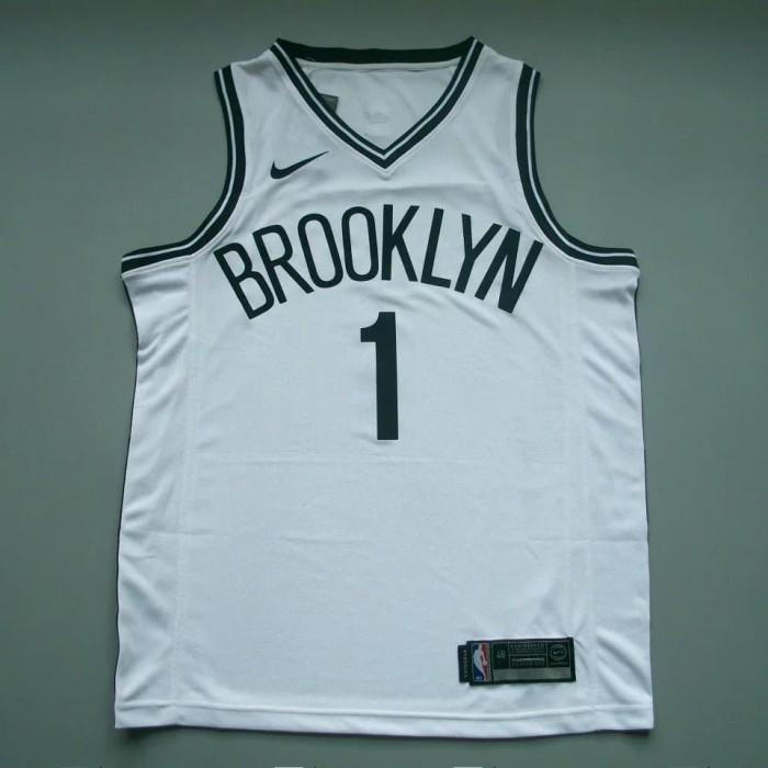 546ef60c5d6 PREORDER CUSTOM NBA JERSEY BASKET BROOKLYN NETS SWINGMAN ORIGINAL - Putih