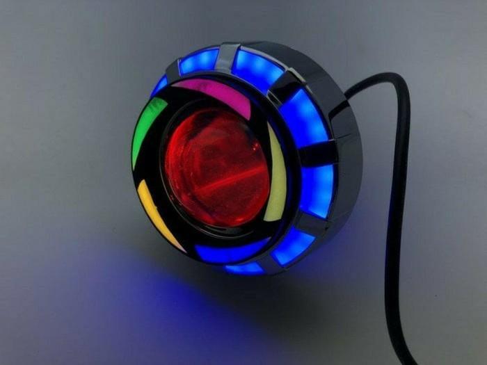 Lampu Projie U26R Mini RRB Rainbow 3 Inch Angel Bulat Running WMP-0592