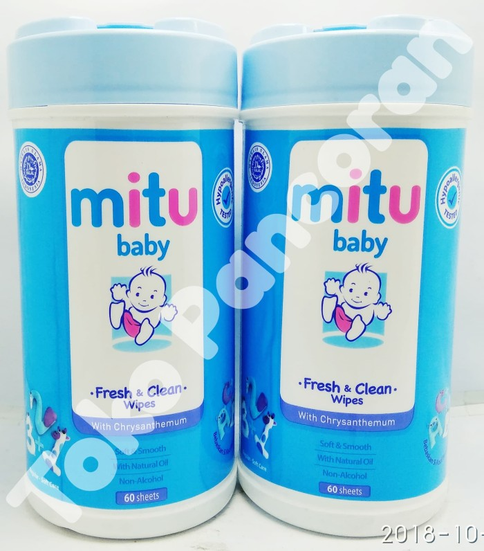 f32b1f9b70d2 Jual MITU baby Tissue Basah Fresh   Clean Wipes Wipes ( Botol ) 60 ...