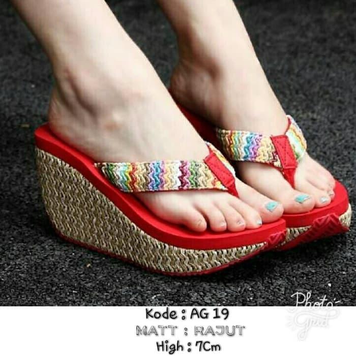 Jual Dijual sendal fashion wanita cantik terbaru termurah AG 19 ... 3bc29b4f16