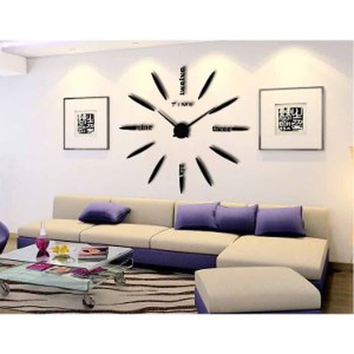 Jam Dinding Unik 3D Ukuran Besar / Uniq 3D Giant Wall Clock - Type I