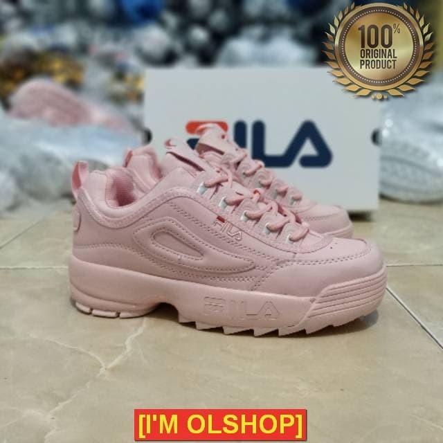 OLSHOP Sepatu Fila Disruptor 2 Women FULL PINK Size 37-41 Import Made a8e4e86f94