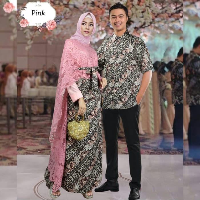 Jual Couple Hadijah Pink Xl Baju Kebaya Pesta Modern Sarimbit