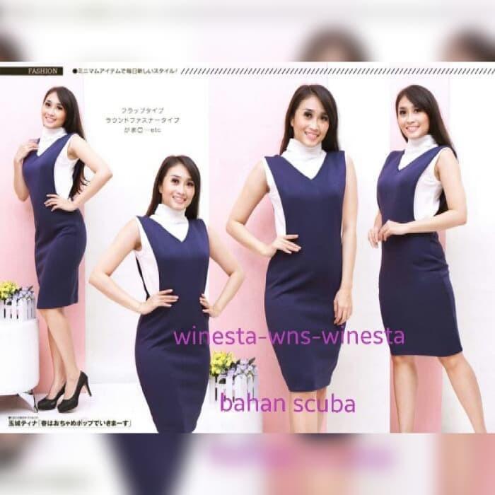 Jual Asen Dress Baju Remaja Wanita Korean Style Scuba Import Murah