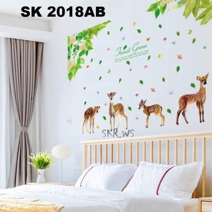 jual wall sticker 120x180 sk2018ab taman rusa - kota kediri