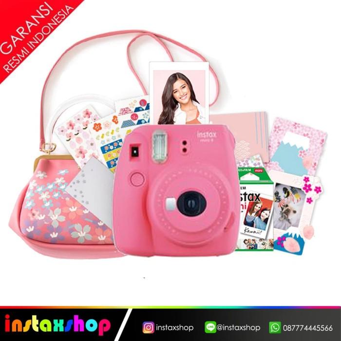 harga Fujifilm instax mini 9 sakura package - merah muda Tokopedia.com