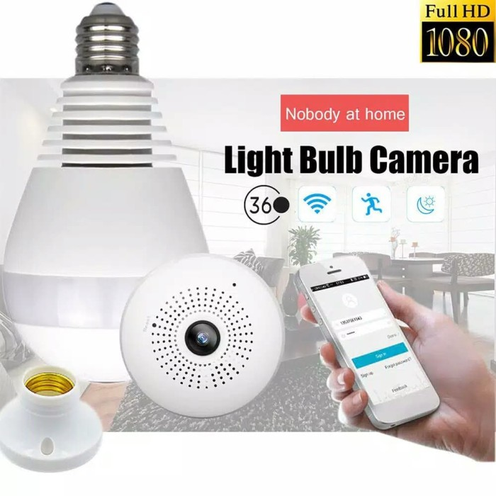 Jual CCTV Bulb Camera IP Wireless 2 MP Panorama FISHEYE 360 v380 Spy Cam -  Kota Palembang - EcoLed go green | Tokopedia