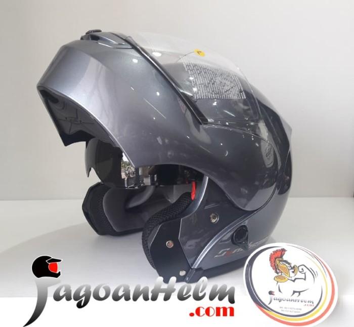 harga Zeus helm zs3000a   modular titanium   3000a flip up Tokopedia.com