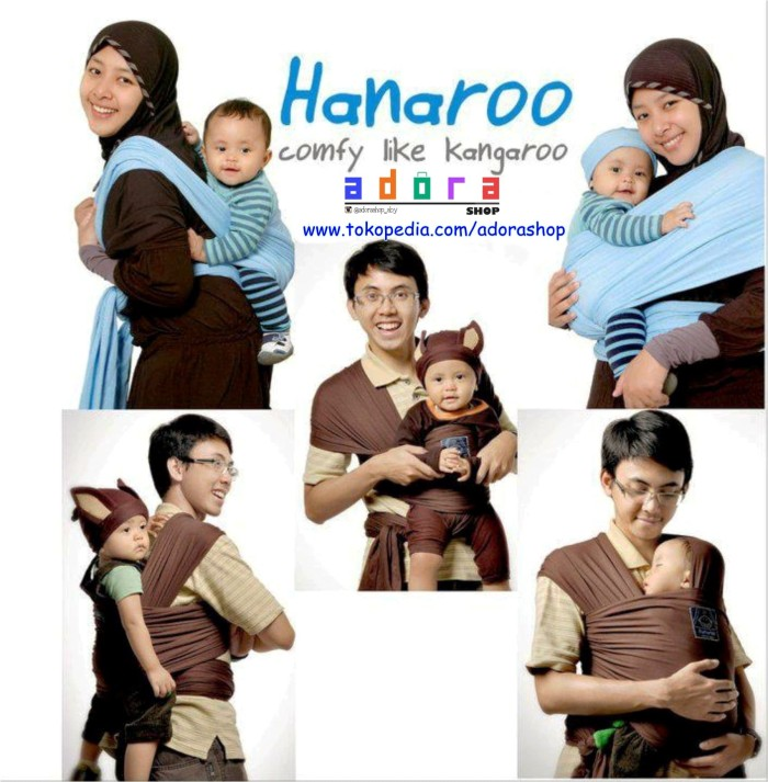 Jual Hanaroo Baby Wrap Gendongan Anti Pegal Hanaroo Polos Murah
